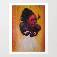 Smoke scream Art Print