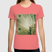 the light pours out of me Womens Fitted Tee Pomegranate SMALL