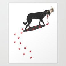 The Black Dog Art Print