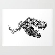 Jurassic Bloom - The Rex… Art Print