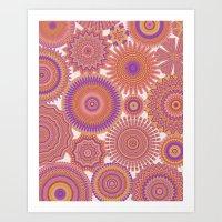 Kaleidoscopic-Fiesta Col… Art Print