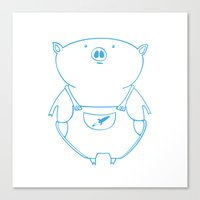 piggy 15 Canvas Print
