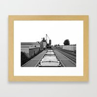 Gritty landscape Framed Art Print