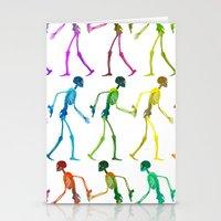 Walking Sketeton With Gu… Stationery Cards