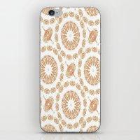 Citrine Mandala Tile iPhone & iPod Skin