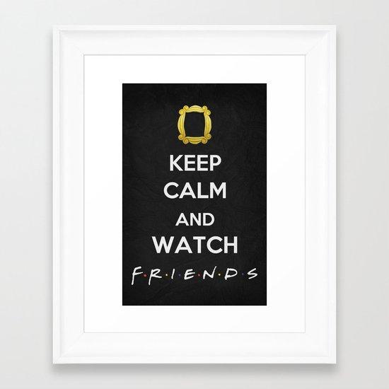 F.R.I.E.N.D.S - Keep Calm Framed Art Print