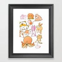 Animals! Framed Art Print