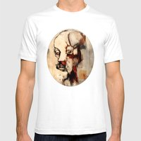 Portrait Of A Distracted… Mens Fitted Tee White SMALL
