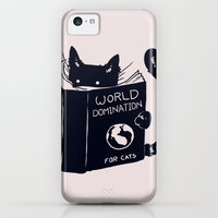 iPhone Cases featuring World Domination For Cats by Tobe Fonseca