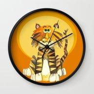 Tabby The Tiger Wall Clock