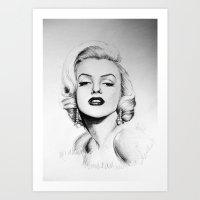 Marilyn Monroe portrait Art Print