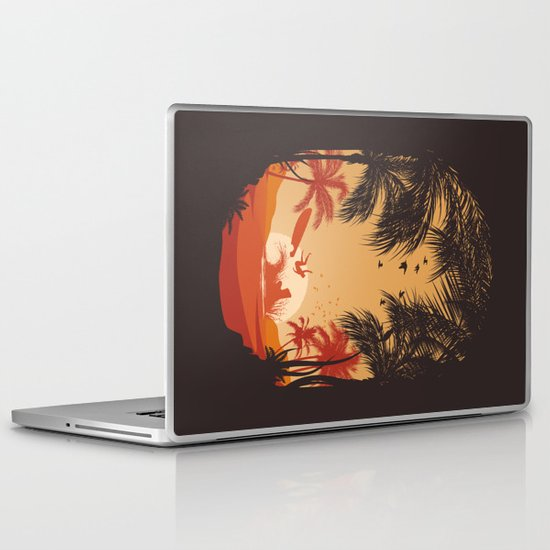 Summertime Madness Laptop & iPad Skin