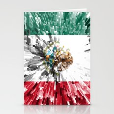 Mexico Flag - Extrude Stationery Cards