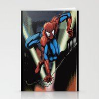 Gritty Spidey Swing Stationery Cards