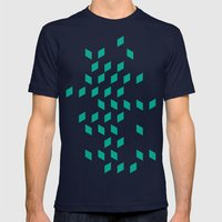 rhombus bomb in emerald Mens Fitted Tee Navy SMALL