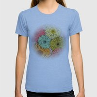 Gerbera Womens Fitted Tee Athletic Blue SMALL