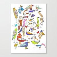 Birds. bird, pattern, animals, kids, art, design, illustration,  Canvas Print