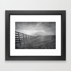 windy days at 3.300 meters Framed Art Print