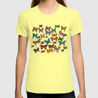 Lepidoptera Womens Fitted Tee Lemon SMALL