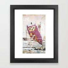 Owl LOVE. Framed Art Print