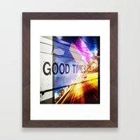 Good Times Lie Ahead Framed Art Print
