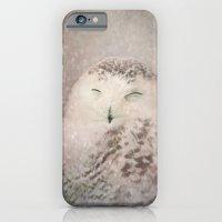 Snowy Owl in the snow iPhone 6 Slim Case