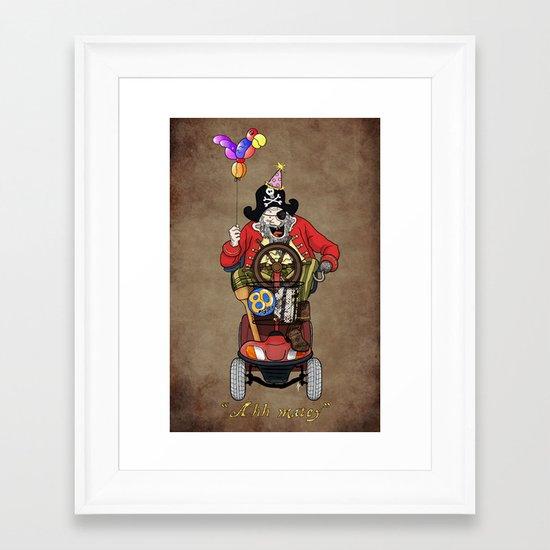Ahh matey!  Framed Art Print