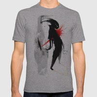 Starburst Mens Fitted Tee Athletic Grey SMALL