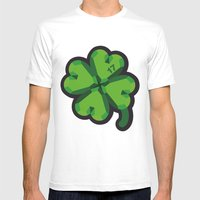 Lucky at 17th march Mens Fitted Tee White SMALL