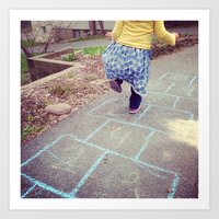 Hopscotch Art Print