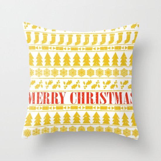Christmas Merry! Throw Pillow
