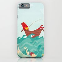 iPhone & iPod Case featuring Seafood is Overrated by Jess Madden