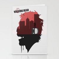 walking dead Stationery Cards featuring Walking Dead by SirGabi