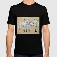 foxes Black SMALL Mens Fitted Tee