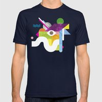 Mythical Float Rate. Mens Fitted Tee Navy SMALL