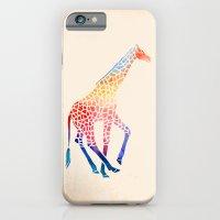 giraffe iPhone & iPod Cases featuring Watercolor Giraffe by Jacqueline Maldonado