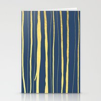 Vertical Living Navy and Gold Stationery Cards