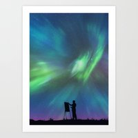 Borealis Painter Art Print