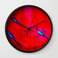 Flying Guppies Wall Clock
