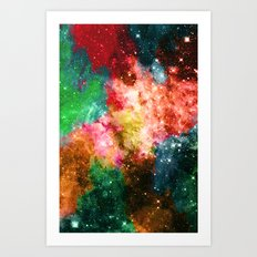 Rainbow Galaxy Art Print