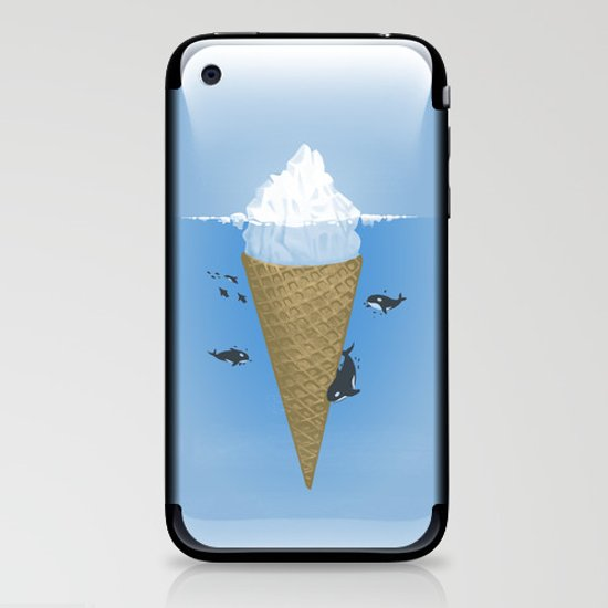 Hidden part of icebergs iPhone & iPod Skin