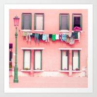 Laundry Venice Italy Tra… Art Print