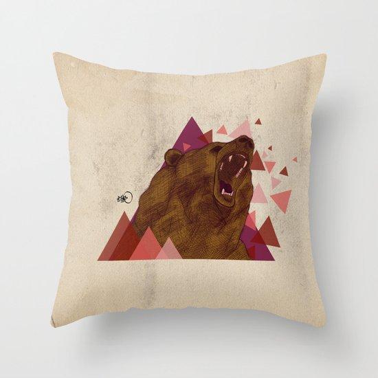 shattered instinct Throw Pillow