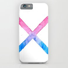 SUICIDE SQUAD HARLEY QUINN INSPIRED RED AND BLUE CROSS. iPhone 6 Slim Case