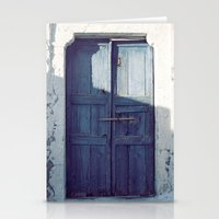 Santorini Door I Stationery Cards