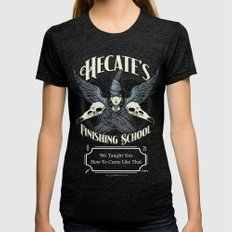 Hecate's Finishing School Womens Fitted Tee Tri-Black SMALL