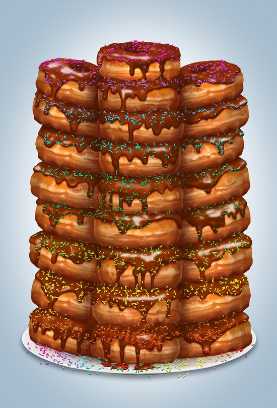 Donuts III 'sparkles&chocolate' Art Print