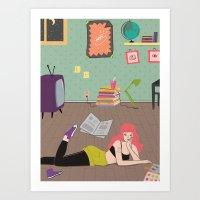 In Her Room Art Print