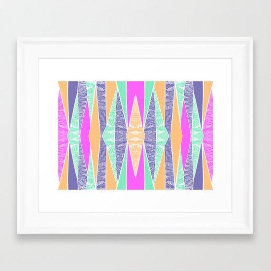 Pastel Tribal Framed Art Print