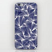 TriangleAngle (Navy) iPhone & iPod Skin